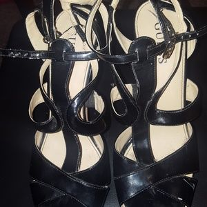 Guess Black Sandal high Heels size 7,5
